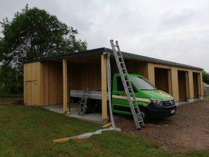 Aufbau Carport abgeschlossen